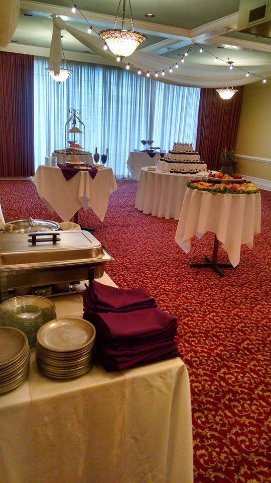 Appetizer stations at Stearns Hotel
