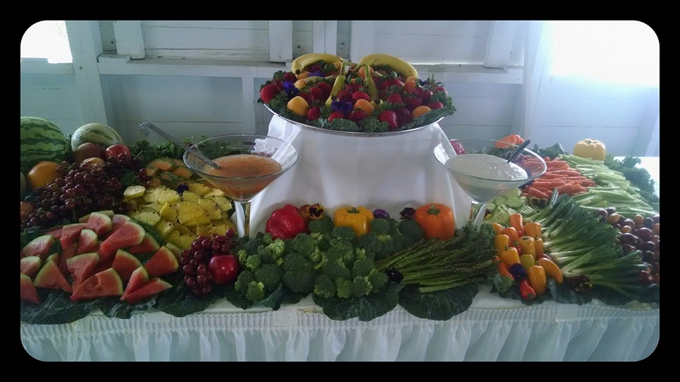 Fresh fruit and veggie stations are always a big hit