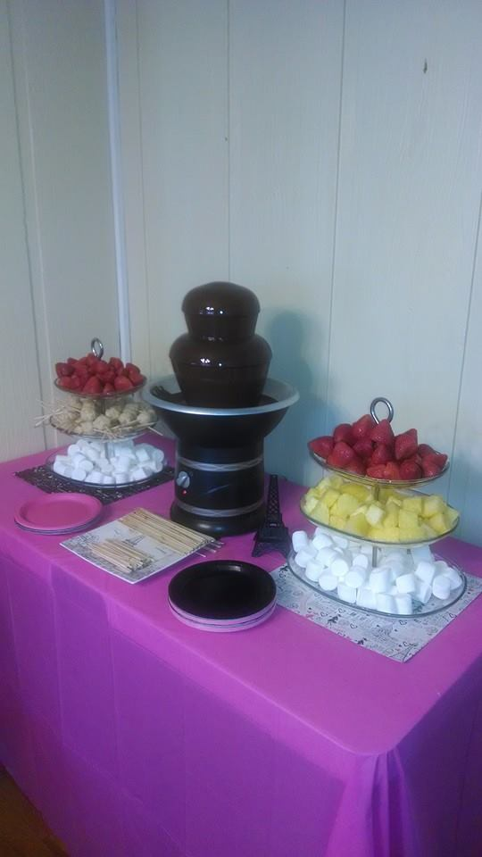 Simple chocolate fountain, packages starting at $200