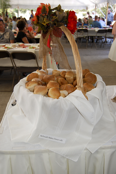 Fresh baked rolls come with all our meals